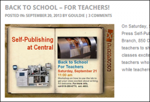 Back to School for Teachers