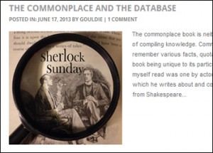 The Commonplace and The Database