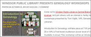 WPL Genealogy Resources