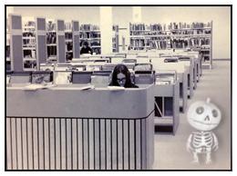 ref desk with bonhomme