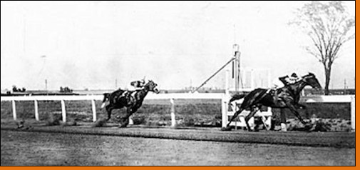 Race of the Century in Windsor, Ontario, October 12, 1920 Sir Barton and Man o' War